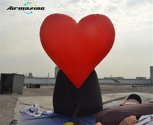 Giant inflatable heart balloon for display H3146