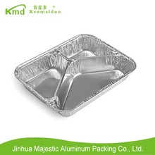KMD 3 Compartments Fast Food Rectangle Aluminium Foil Tray