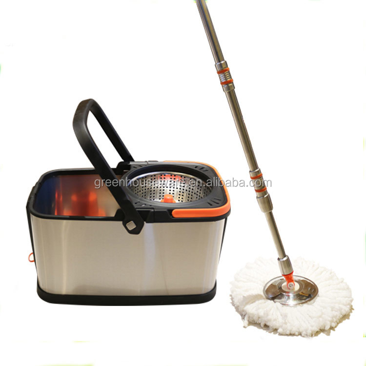 All SS material 360 Degree Microfiber spin mop