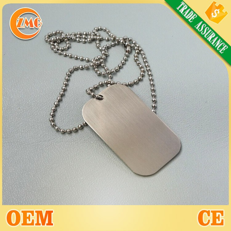 wholesale cheap sublimation blank metal dog tag