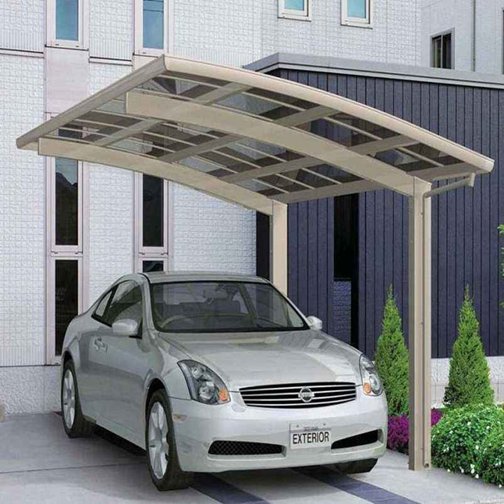 Aluminum Frame Double Carport/Garage With Polycarbonate Sheet Roofing