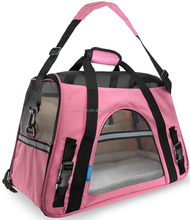 Pink Pet travelling Accessories, pet carrier Nylon Mesh Fleece 600D oxford, Pet Carrier
