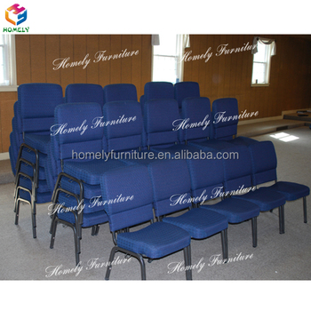 Wholesale Stackable Padded Steel Tube Used Church Chairs
