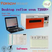 Nitrogen lead-free reflow soldering oven for SMT with temperature tester