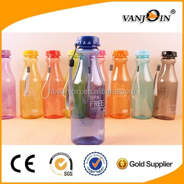 Wholesale BPA Free 18oz Plastic Soda Bottle With Straw