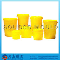 Plastic barrel with lid mould