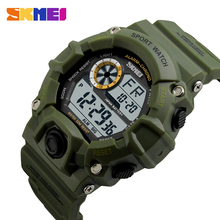 Military green mens quartz digital army design sports watch