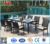 Modern Outdoor Furniture Garden Patio Rectangle Glass Top Rattan Wicker Dining Table and Chair Set