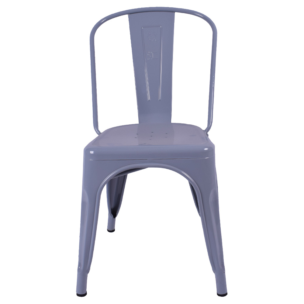 Good quality fancy stackable metal chairs used for dining/restaurant