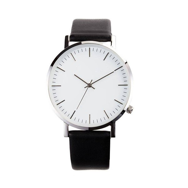 High quality stainless steel case simple men custom logo watch