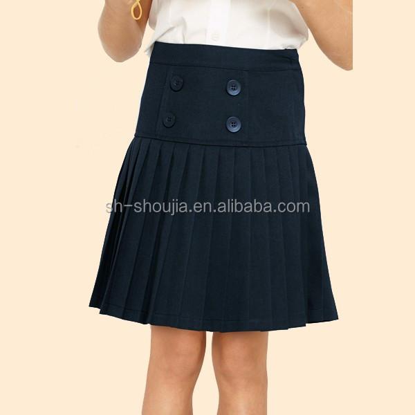 jupe d'uniforme coles fille bleu marine classique france