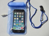 Wholesale PVC Waterproof Zip Lock Bag With Earphone Jack For iPhone 6 Plus