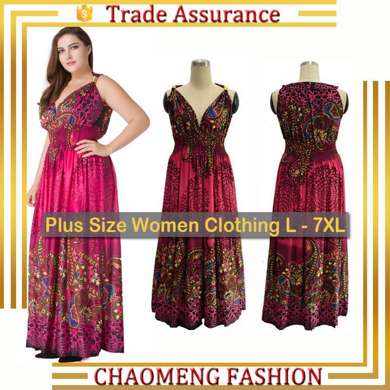 5038# Long Sundresses Lycra Summer Bohemian Style Boho Maxi Dress ...