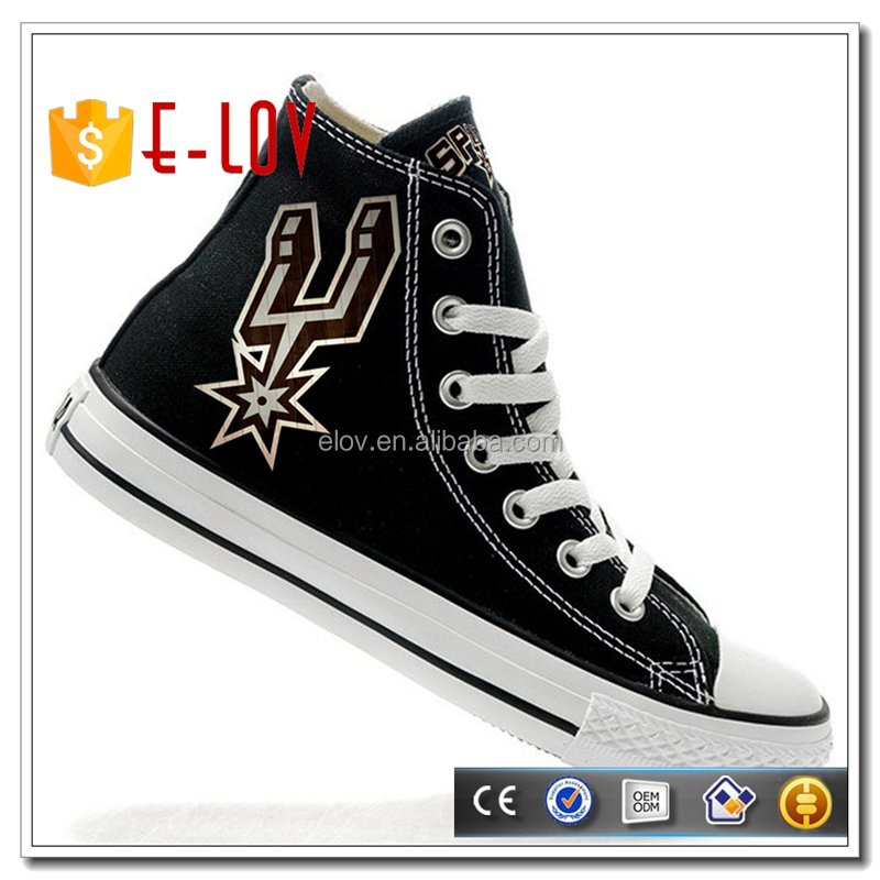 Good quality graffiti canvas shoes cheap price school shoe for sale