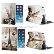 Popular OEM colorful painting mobile case for apple iPad 5 wallet leather phone case