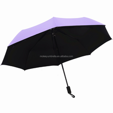 High Quality Japanese Outdoor Extra Large Purple Personal Telescoping 3 Folding Sun And Rain Umbrella