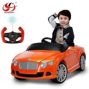 China Two Motor Painting Driving License Car Authorized Brand Car 12V Electric Battery Kids Ride On Car