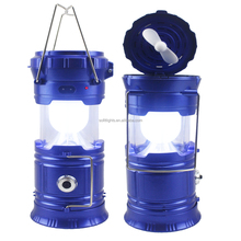 Multi-function telescopic led solar camping light with hidden fan & USB power output low price