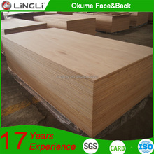 Best price India standard size 18mm thickness E1 glue furniture plywood
