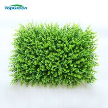 Outdoor Plastic Artificial Vertical Green Grass Wall Mat