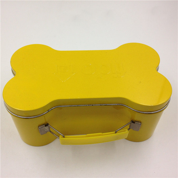 Promotional Gift Packaging Dog Bone Shaped Tin Box