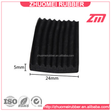 Self Adhesive Ribbed Sponge Rubber Strip 24x5mm