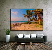 Beach natural scenery canvas art photo printing painting wholesale