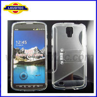 Mobile Phone S-Line Plastic Hard Case For Galaxy S4 Active PC+TPU Case For Galaxy Si9295 Made In China