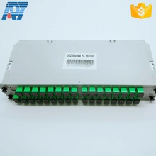 FTTH CATV network 1 x n singlemode box type fiber coupler 1x8 casette type mini fiber optic PLC splitter