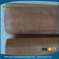 Bronze woven wire mesh screen/bronze wire clothing/metal fabric