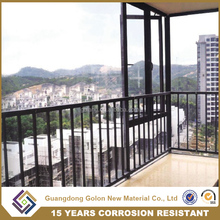 Chinese aluminum railing prices / Galvanized steel aluminium balcony railing