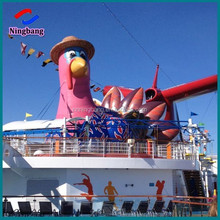 NB-CT20235 NingBang beautiful high quality giant inflatable turkey on the roof for outdoor decoration