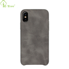 New Arrive Mobile Phone Retro PU Leather Back Cover Case For iPhone X , For iPhone X Back Case