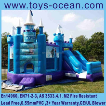 new frozen jumping inflatable bouncy castle with slide