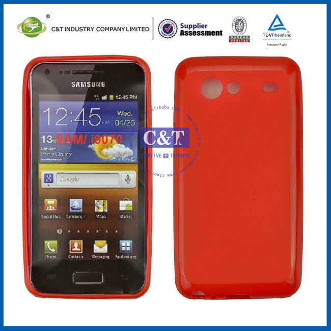 C&T Red TPU Gel case for samsung galaxy s i9070
