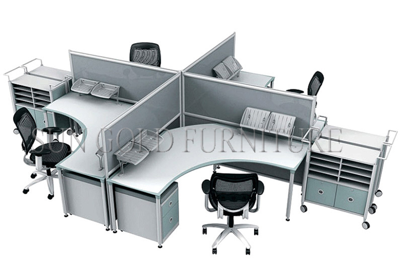 Modern new design high end office workstation 120 for 6 for Best office layout for productivity