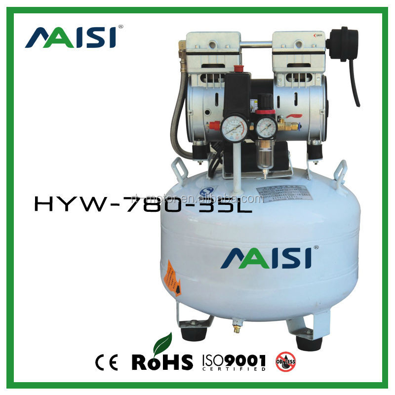 1HP oil free silent air compressor for sale