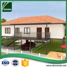 DESUMAN china new products CE customized fireproof lightweight concrete prefab house panel villas