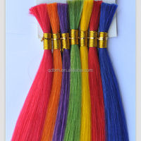 Wholesale Colorful Remy Brazilian Hair Bulk Extensions without Weft