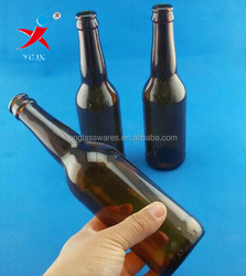 330ml long neck glass beer bottle