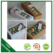 Paper box for sweets,cookies box paper clear,macaron box with clear window