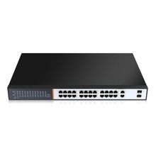 Best reliable 24 ports and Stock Products Status 100M poe switch, 2 gigabit uplink sfp combo. 440W high power