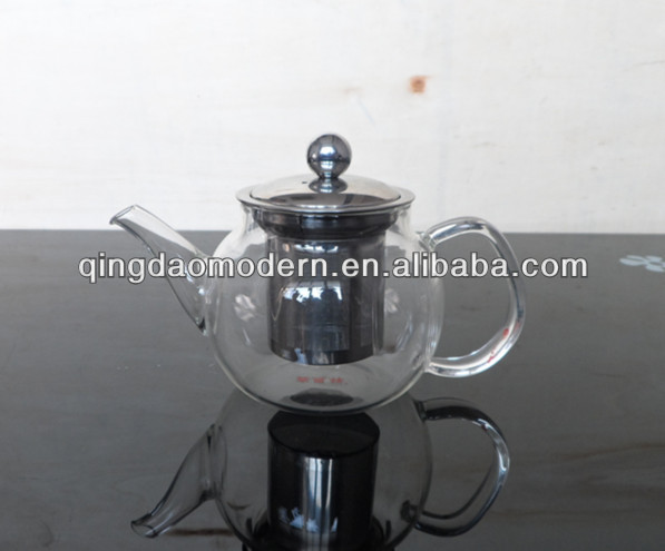 Good quality glass teapot with stainless steel infuser