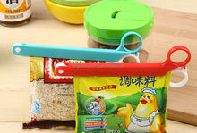 Special Design Storage Bag Sealing Clip Scissors-Shaped Food Seal Folder