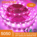 High brightness light Waterproof IP65 SMD 5050 DC12V 14.4W RGB Led Strips