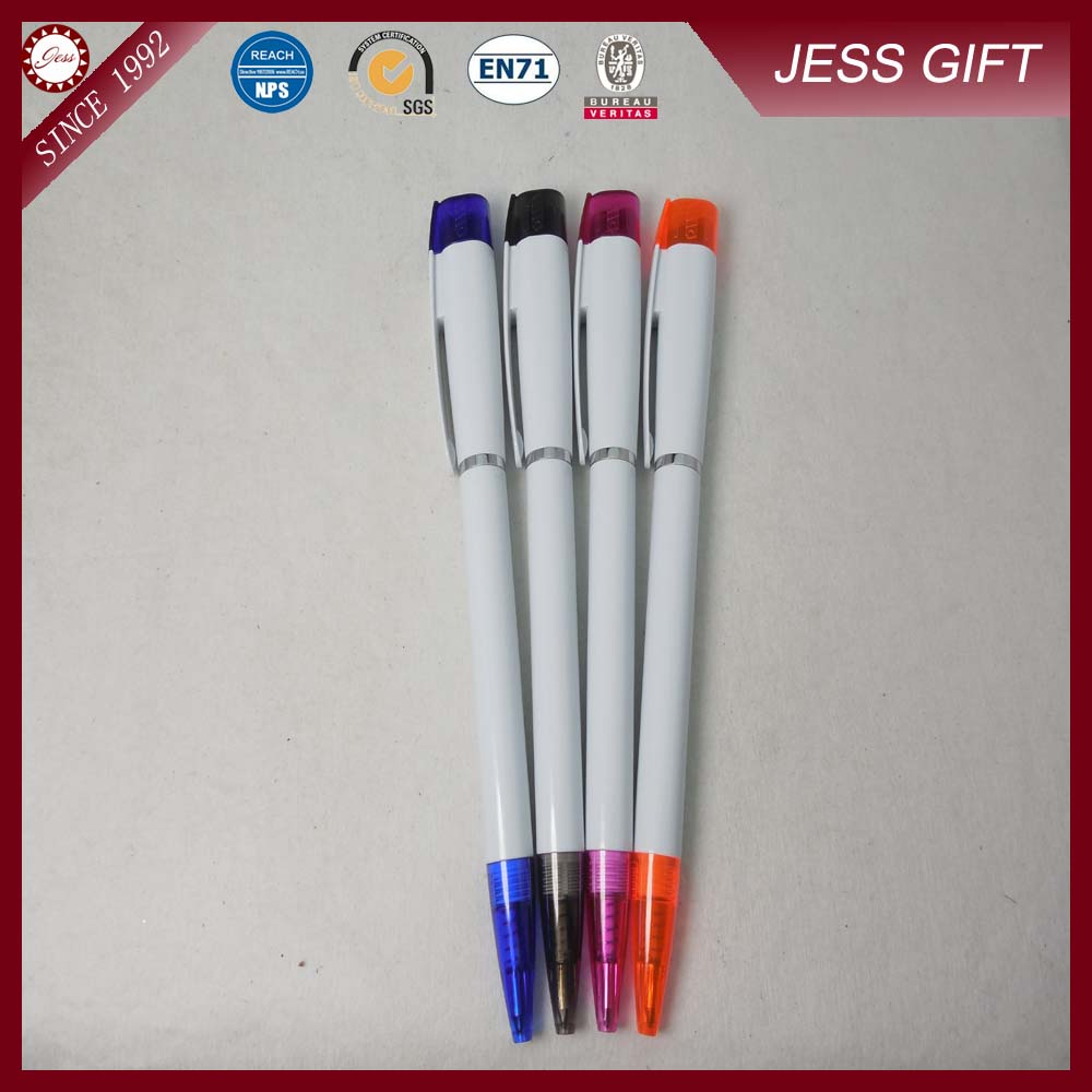 premium gift retractable plastic stylus bic ball pen with knife