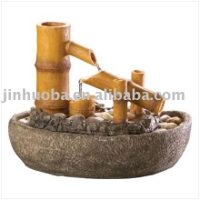 Polyresin Bamboo Water Fountain