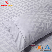 Hotel Jacquard Stripe Check Pattern bed sheet and pillow case one direction duvet cover