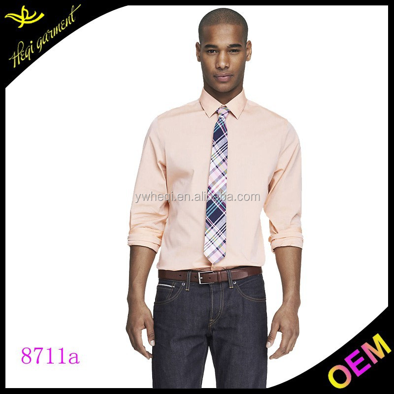 light pink mens silk shirt with fashion tie