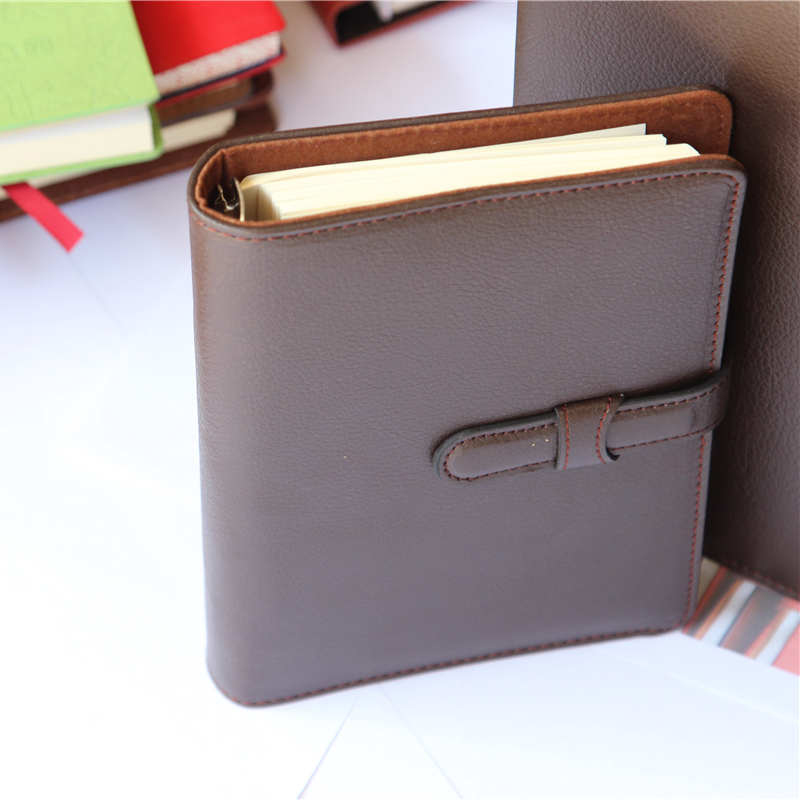 handmade custom PU leather journal diary leather notebook for office school